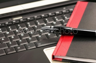 stock photo: laptop and notebook-Raw Stock Photo ID: 30611