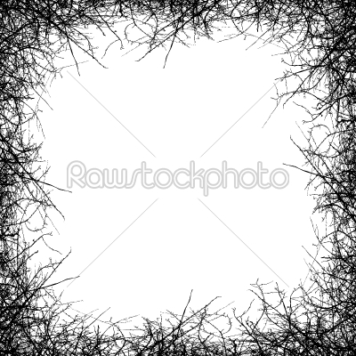stock vector: leafless tree border-Raw Stock Photo ID: 24609