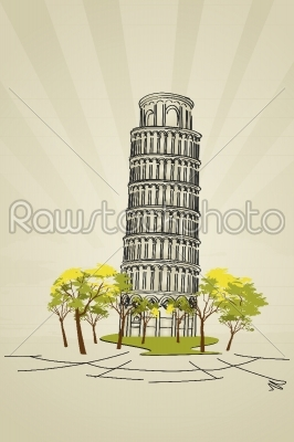stock vector: leaning tower of pisa-Raw Stock Photo ID: 24612