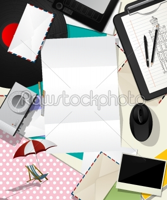 stock vector: letter collage abstract-Raw Stock Photo ID: 24616