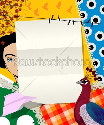 stock vector: letter collage-Raw Stock Photo ID: 24617