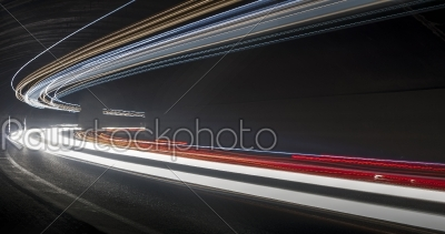 stock photo: light trails in tunnel-Raw Stock Photo ID: 27395