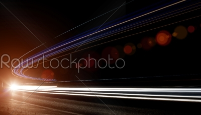 stock photo: light trails in tunnel-Raw Stock Photo ID: 27547