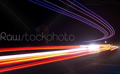 stock photo: light trails in tunnel-Raw Stock Photo ID: 27550