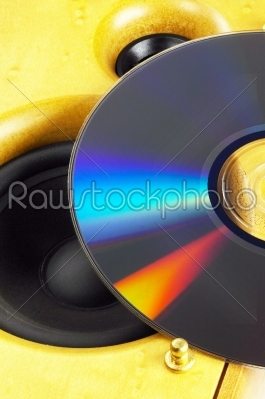 stock photo: loudspeaker and cd-Raw Stock Photo ID: 30730