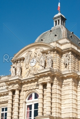 stock photo: luxembourg palace  entrance-Raw Stock Photo ID: 11835