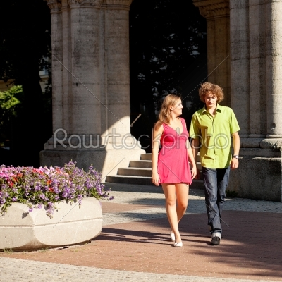 stock photo: man and woman in the city-Raw Stock Photo ID: 38893