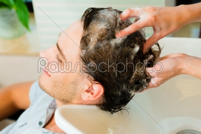 stock photo: man at the hairdresser-Raw Stock Photo ID: 40038