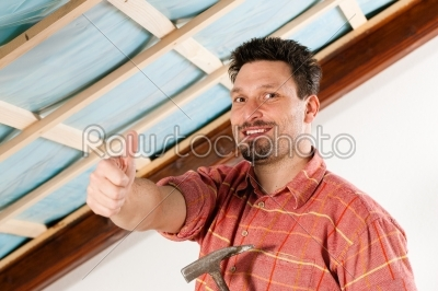 stock photo: man doing dry walling working-Raw Stock Photo ID: 40707