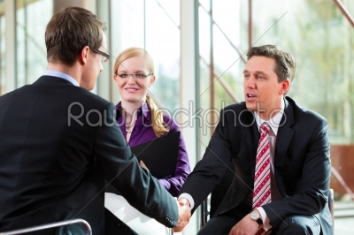 stock photo: man having an interview with manager and partner employment job-Raw Stock Photo ID: 44710