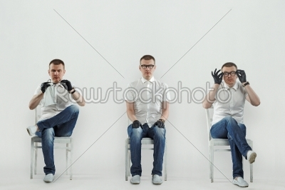 stock photo: man sitting on the chair-Raw Stock Photo ID: 18576