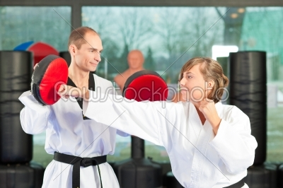 stock photo: martial arts sport training in gym-Raw Stock Photo ID: 41229