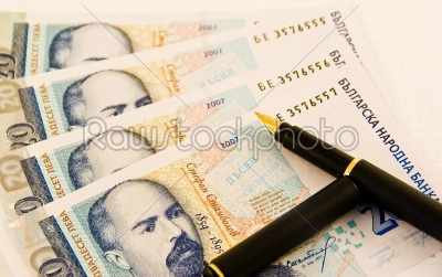 stock photo: money with a pen-Raw Stock Photo ID: 11546