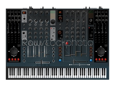 stock vector: music controller mixer-Raw Stock Photo ID: 24672