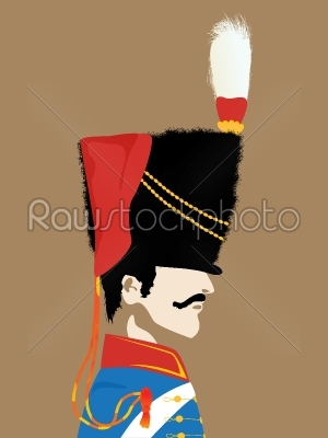 stock vector: napoleons army officer-Raw Stock Photo ID: 24680