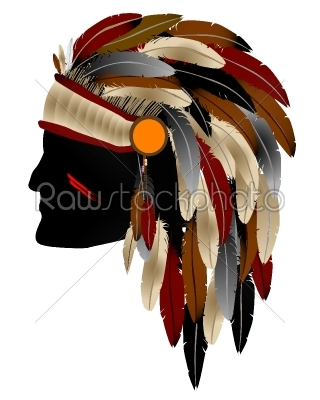 stock vector: native american indian-Raw Stock Photo ID: 24681