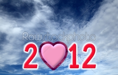 stock photo: new year made of computer graphic on blue sky and white cloud ba-Raw Stock Photo ID: 31171