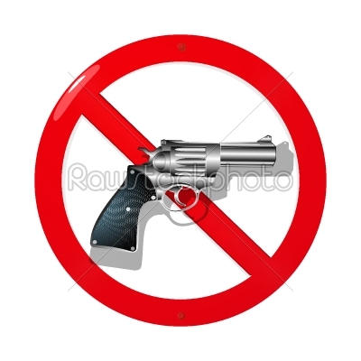 stock vector: no guns-Raw Stock Photo ID: 24688