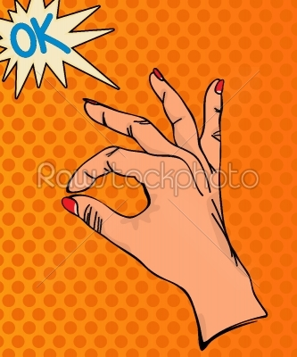 stock vector: ok hand sign-Raw Stock Photo ID: 24696