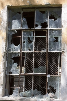stock photo: old factory window with broken glass-Raw Stock Photo ID: 28750