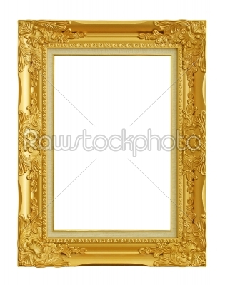 stock photo: old gold picture frame-Raw Stock Photo ID: 23208