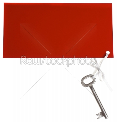 stock photo: old key with red label-Raw Stock Photo ID: 9847