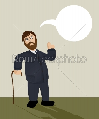 stock vector: old man-Raw Stock Photo ID: 24702