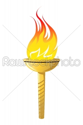 stock vector: olympic torch icon-Raw Stock Photo ID: 24434
