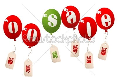 stock vector: on sale balloons-Raw Stock Photo ID: 24705