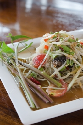 stock photo: papaya salad-Raw Stock Photo ID: 22174