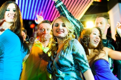 stock photo: party people dancing in disco or club-Raw Stock Photo ID: 42055