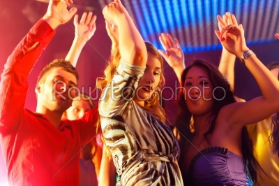 stock photo: party people dancing in disco or club-Raw Stock Photo ID: 42076