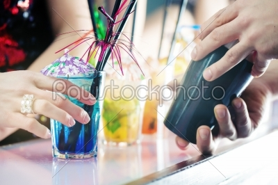 stock photo: party people in bar with cocktails-Raw Stock Photo ID: 38404