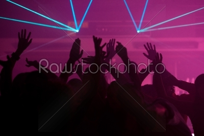 stock photo: people dancing in club with laser-Raw Stock Photo ID: 39696