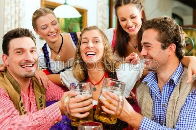 stock photo: people drinking beer in bavarian pub-Raw Stock Photo ID: 40680