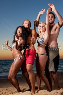 stock photo: people having party at beach with drinks-Raw Stock Photo ID: 40554