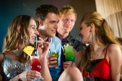 stock photo: people in club or bar drinking cocktails-Raw Stock Photo ID: 44928