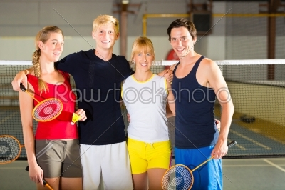 stock photo: people in sport gym before badminton-Raw Stock Photo ID: 45511