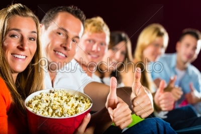 stock photo: people see a movie in the cinema and have fun-Raw Stock Photo ID: 46298