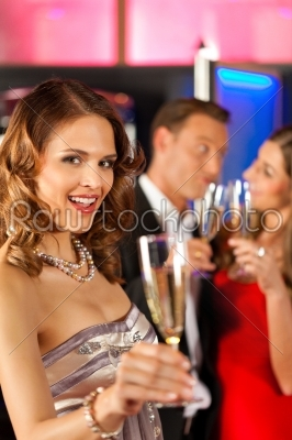 stock photo: people with champagner in a bar-Raw Stock Photo ID: 41876