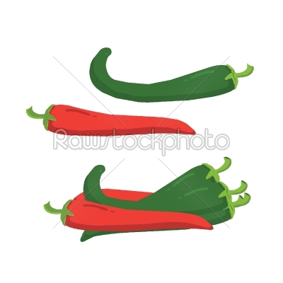 stock vector: peppers-Raw Stock Photo ID: 27737
