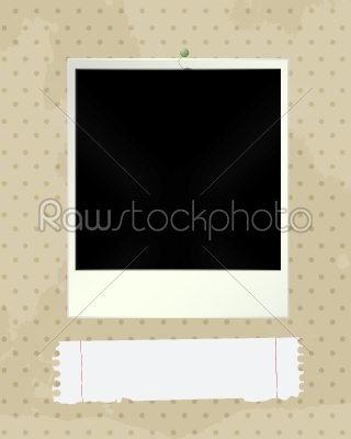stock vector: photo frame and note-Raw Stock Photo ID: 24935