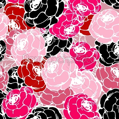 stock vector: pink roses pattern-Raw Stock Photo ID: 24945