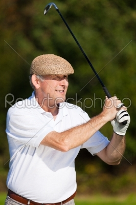 stock photo: playing golf  hit the ball-Raw Stock Photo ID: 39175