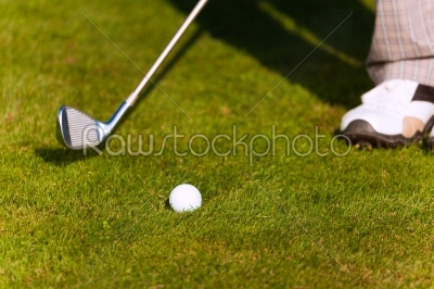 stock photo: playing golf  hit the ball-Raw Stock Photo ID: 39179