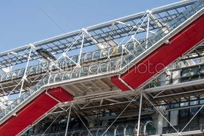 stock photo: pompidou red stairs-Raw Stock Photo ID: 11845