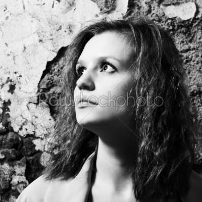 stock photo: portrait young woman-Raw Stock Photo ID: 17859