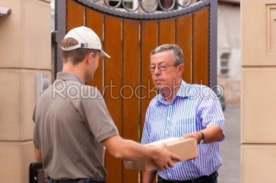 stock photo: postal service  delivery of a package-Raw Stock Photo ID: 42788