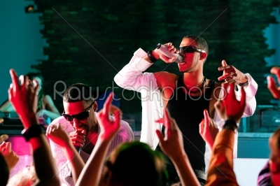 stock photo: rap or hiphop musicians performing on stage-Raw Stock Photo ID: 39686
