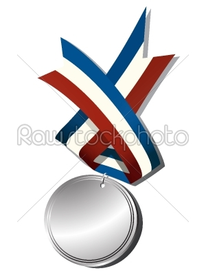 stock vector: realistic silver medal-Raw Stock Photo ID: 25096